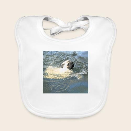 Mops schwimmt - Baby Bio-Lätzchen