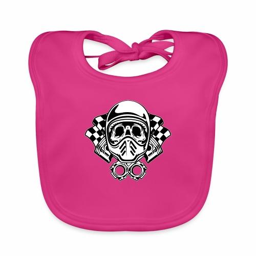 Racing Skull Helmet - Baby Organic Bib