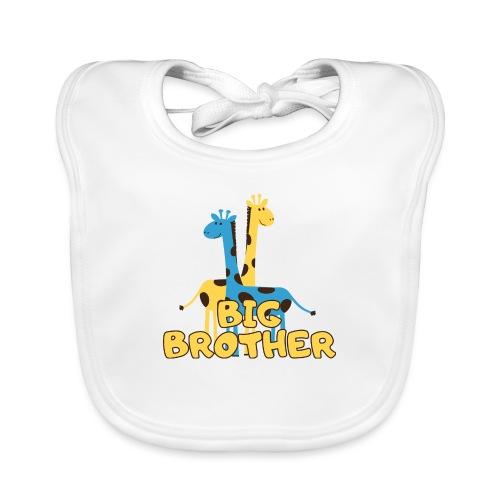 big brother giraffe babyparty shirt - Baby Bio-Lätzchen