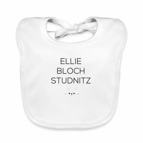 Ellie tryk sort - Baby økologisk hagesmæk