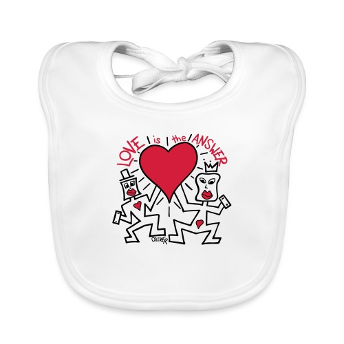Love is the Answer by Oliver Schibli - Baby Organic Bib