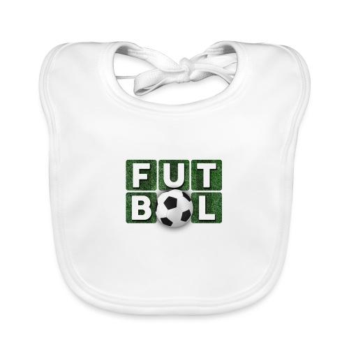 Futbol - Babero de algodón orgánico para bebés