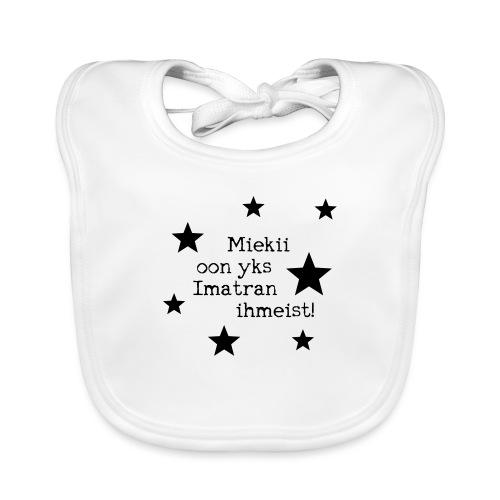 Miekii oon yks Imatran Ihmeist lasten t-paita - Vauvan ruokalappu