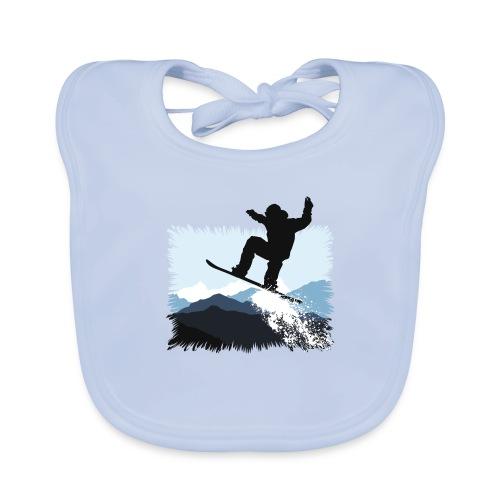 Snowboarder Action Jump | Apresski Shirt gestalten - Baby Bio-Lätzchen