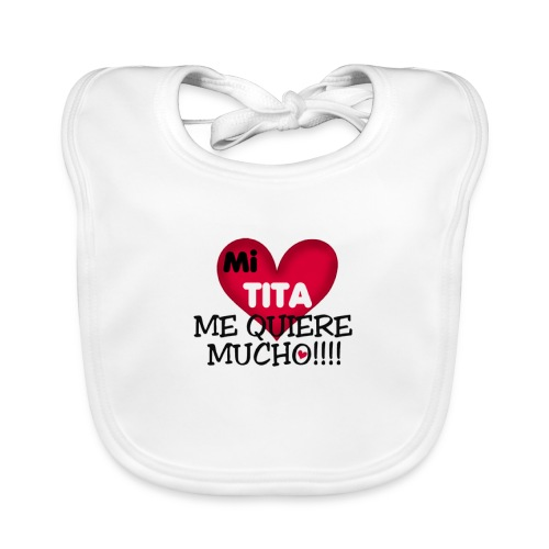 MI-TITA-ME-KIERE-MUCHO - Babero de algodón orgánico para bebés