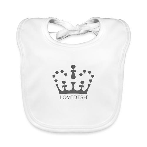 Lovedesh Crown (Dark Grey) - Baby Organic Bib