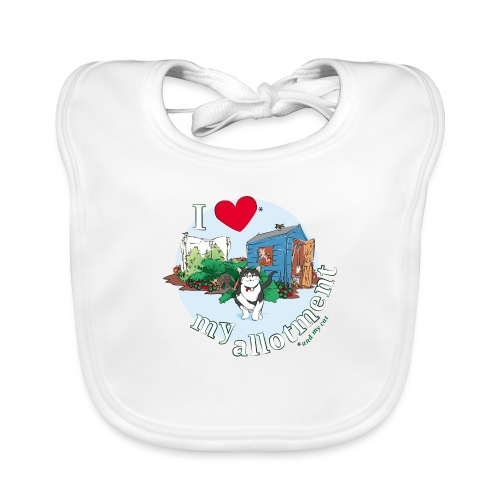 I 'love' my allotment - Organic Baby Bibs