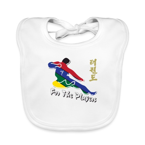 Taekwondo Flying Kicking-man For the Players - Baby Organic Bib