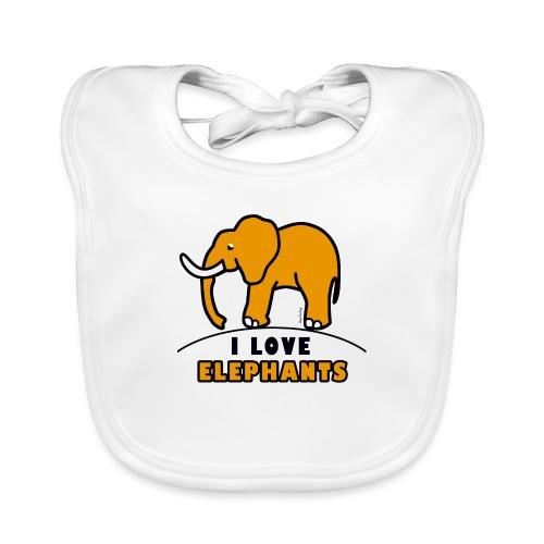 Elefant - I LOVE ELEPHANTS - Baby Bio-Lätzchen