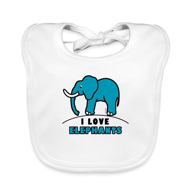 Blauer Elefant - I LOVE ELEPHANTS