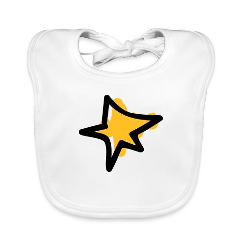 Star Shape Pixellamb - Baby Bio-Lätzchen