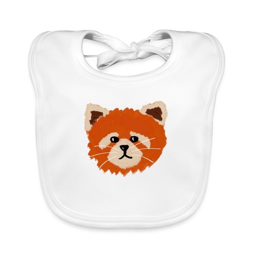 Amanda the red panda - Baby Organic Bib
