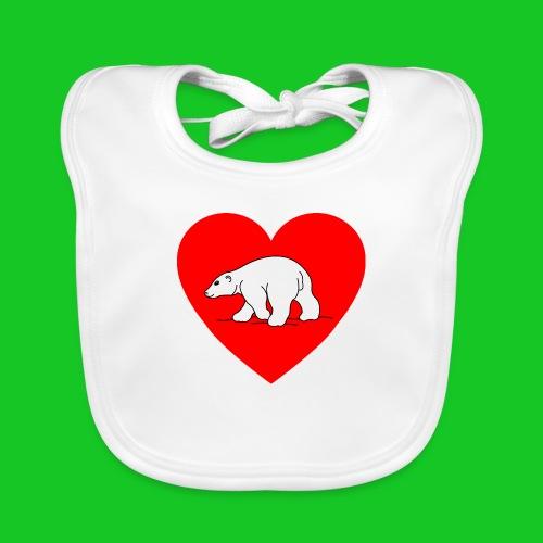 I Love ijsbeer - Bio-slabbetje voor baby's