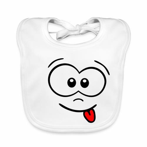 Gesicht Zunge rausstrecken - Baby Bio-Lätzchen