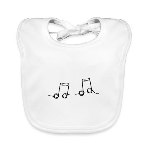 Muzikale bladmuziek muzieknoten patroon. Muziek - Bio-slabbetje voor baby's