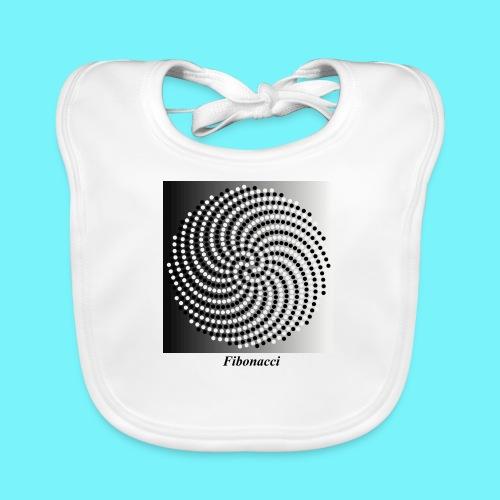 Fibonacci spiral pattern in black and white - Organic Baby Bibs