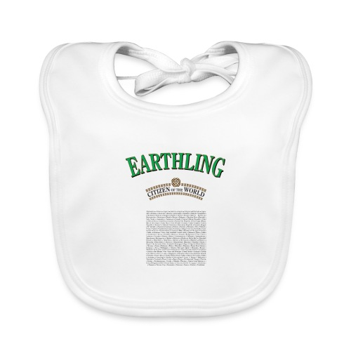 Earthling - Citizen of the World - Ekologisk babyhaklapp