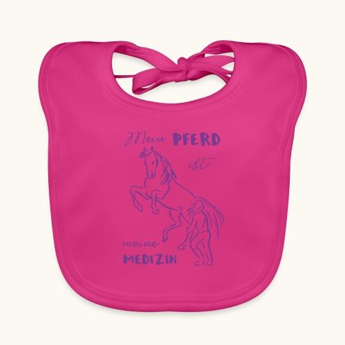 Mein Pferd ist meine Medizin lila Geschenk Spruch - Bavoir bio Bébé