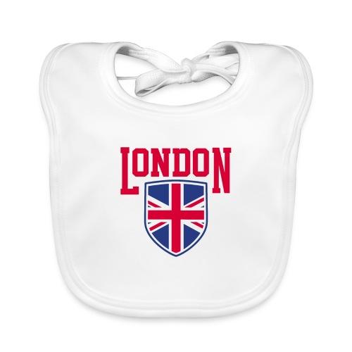 London Souvenir - London Wappen Flagge - Baby Bio-Lätzchen