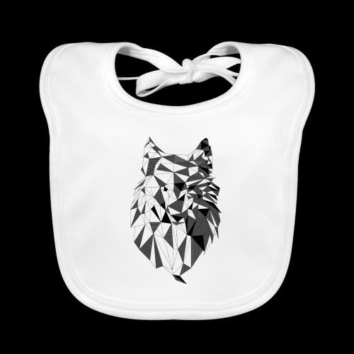 Polygoon wolf - Bio-slabbetje voor baby's