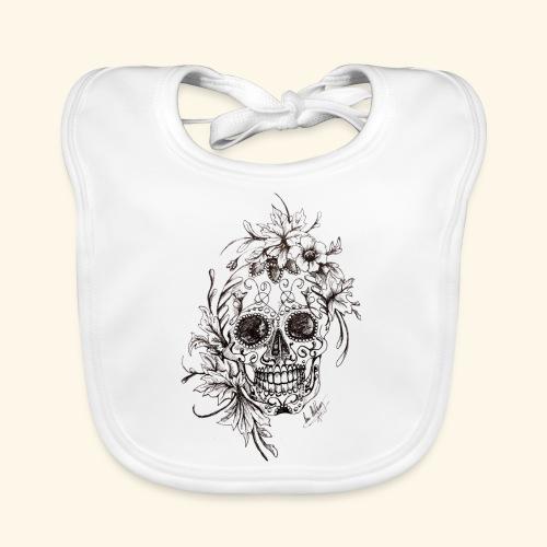 SkullDrawings - Ekologisk babyhaklapp