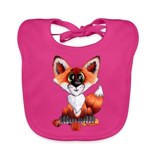llwynogyn - a little red fox - Vauvan luomuruokalappu