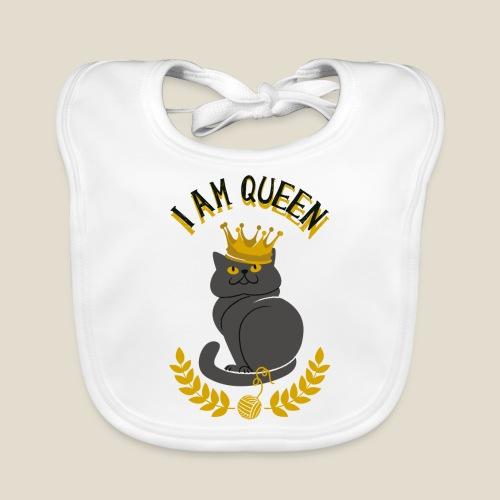 I am Queen - Bavoir bio Bébé