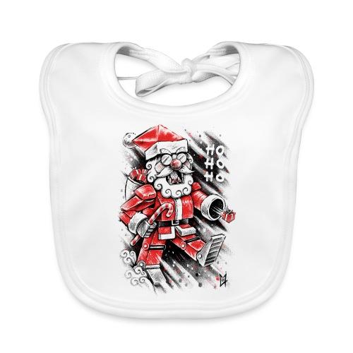 Robot Santa Claus - Baby Organic Bib
