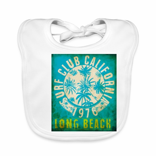 Long Beach Surf Club California 1976 Gift Idea - Baby Organic Bib