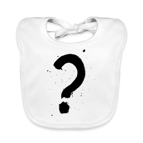 Kysymysmerkki musta - Vauvan ruokalappu