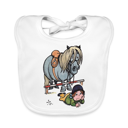 Thelwell Funny Showjumping Gone Wrong - Organic Baby Bibs