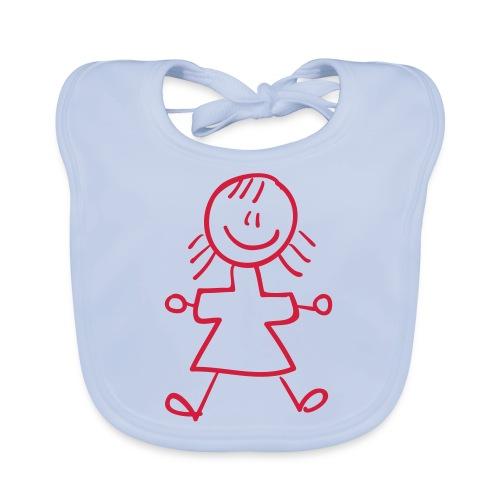 Kid Line Drawing Pixellamb - Baby Bio-Lätzchen