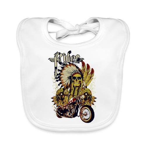 Skull Rider - Babero de algodón orgánico para bebés