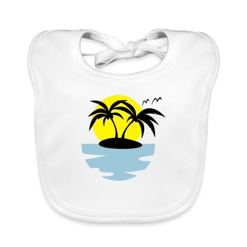 Island, Sun and Sea - Baby Organic Bib