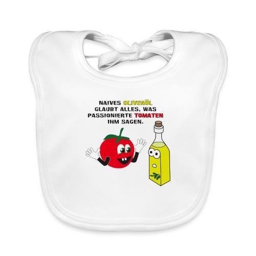 Tomate und Olivenöl - Baby Bio-Lätzchen