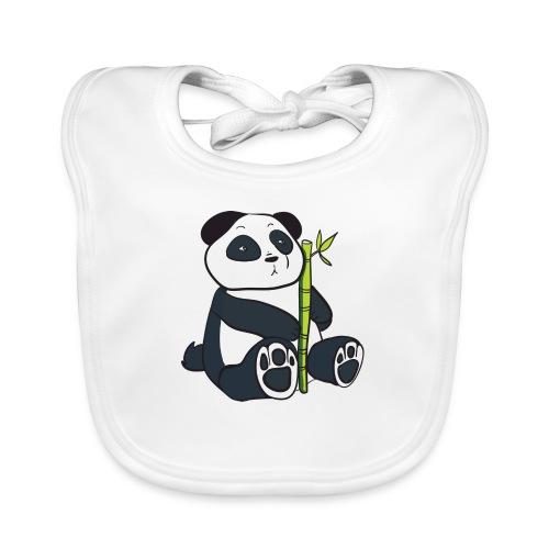 Oso Panda con Bamboo - Babero de algodón orgánico para bebés