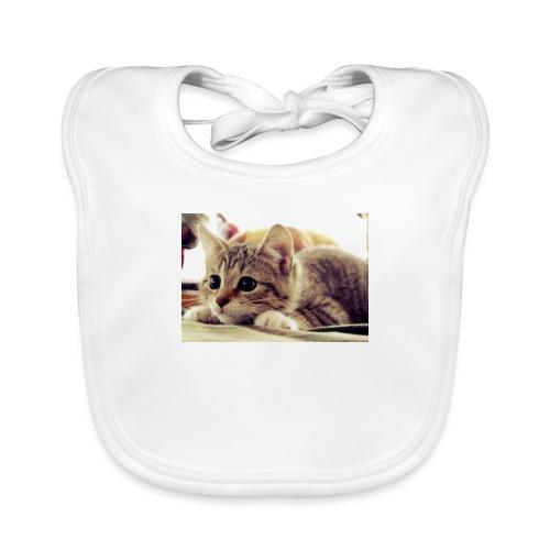 gato tierno - Babero de algodón orgánico para bebés