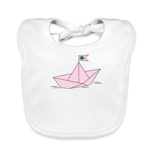 Schiffchen rosa - Baby Bio-Lätzchen