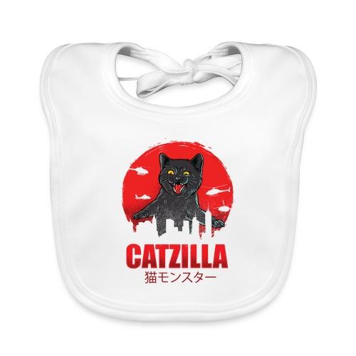 Catzilla Katzen Horror B-Movie Parodie - Baby Bio-Lätzchen