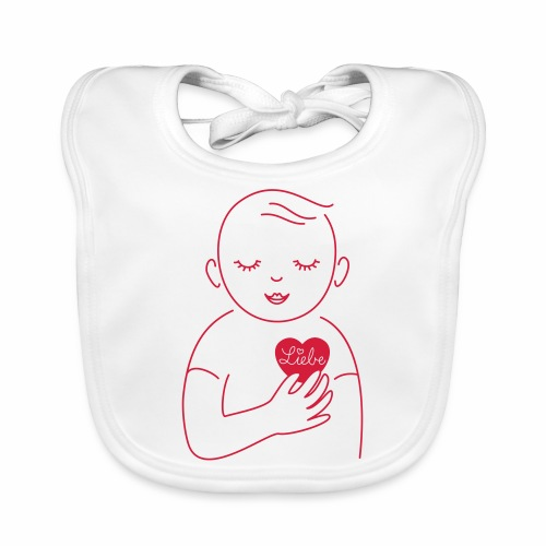 Liebe im Herzen - Baby Bio-Lätzchen