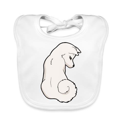 Akita bianco - Bavaglino ecologico per neonato