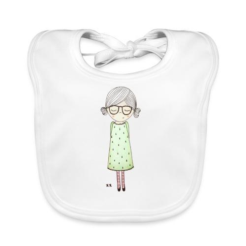 meisje met bril - Bio-slabbetje voor baby's