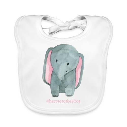 hermosos bebitos elefantito - Babero ecológico bebé