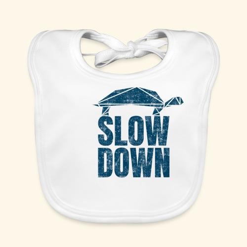 Slow Down witzige coole Schildkröte Keep Calm kein - Baby Bio-Lätzchen