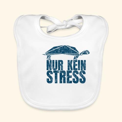 Nur kein Stress witzige Schildkröte Keep Calm - Baby Bio-Lätzchen