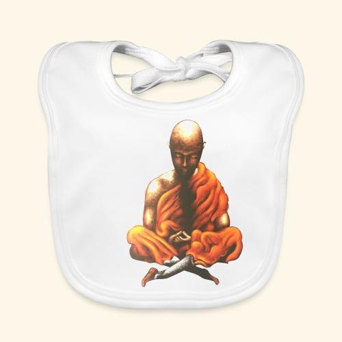 Yoga Meditation Spiritueller Buddhistischer Mönch - Baby Bio-Lätzchen