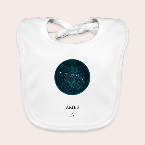 Sternzeichen Astro Aries - Baby Bio-Lätzchen