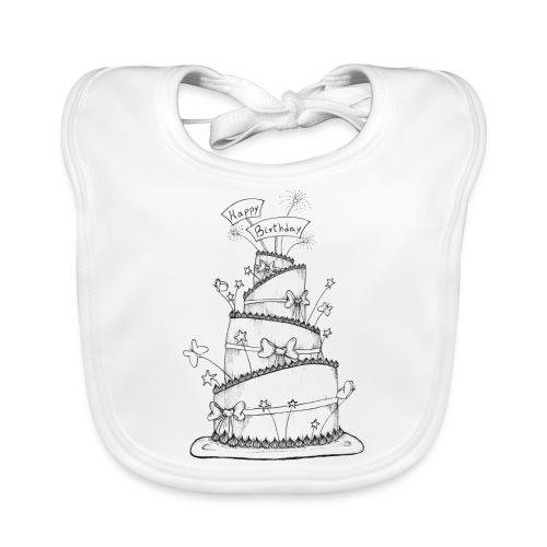 Torta - Bavaglino ecologico per neonato