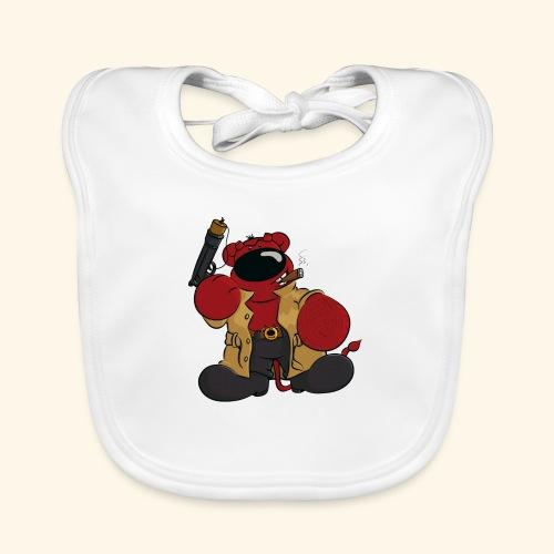 chris bears Der Bär ist ein Superheld - Baby Bio-Lätzchen