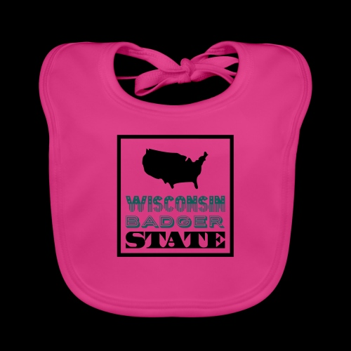 Wisconsin BADGER STATE - Baby Organic Bib